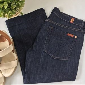 7 for All Mankind Crop Dojos size 28 NWOT